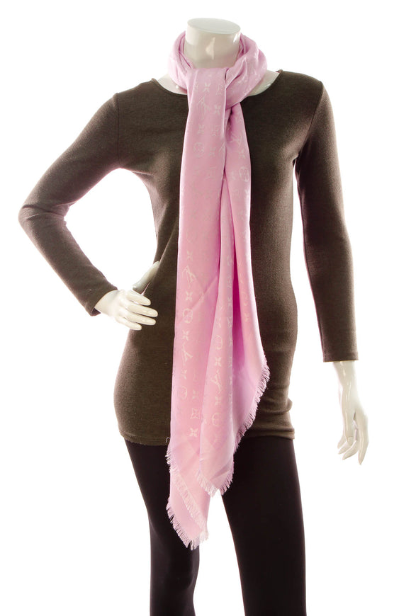 Louis Vuitton Monogram Shawl Scarf - Rose Ballerine