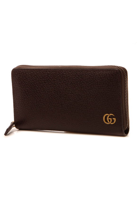 Gucci Marmont Zip Around Wallet - Brown