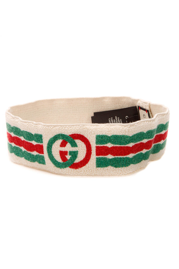 Gucci Interlocking G Headband & Wrist Set - Cream Size Medium