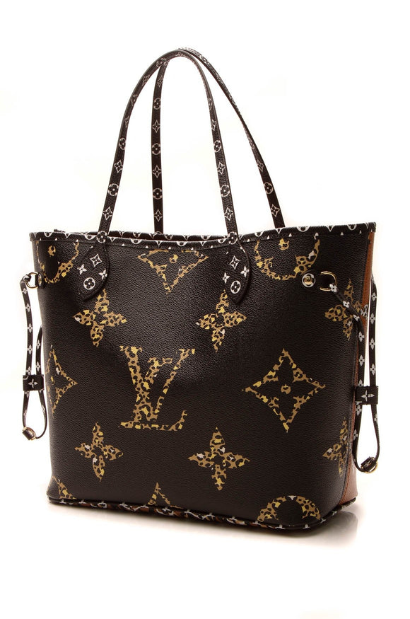 Louis Vuitton Jungle Neverfull MM Tote Bag - Giant Monogram