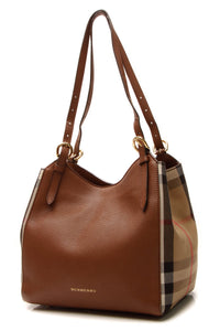 Burberry Canterbury Small Tote Bag - Tan/House Check