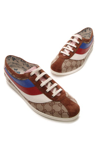 Gucci Falacer Bee Sneakers - Signature Canvas Size 41