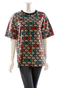 MCM Monogram Men's T-Shirt - Multicolor Size Medium