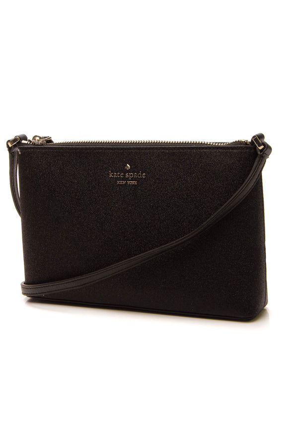 Kate Spade Joeley Glitter Crossbody Bag - Black