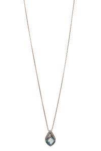 John Hardy Diamond & Topaz Modern Chain Necklace - Silver