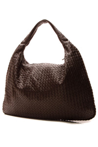 Bottega Veneta Nappa Intrecciato Large Veneta Hobo Bag - Brown