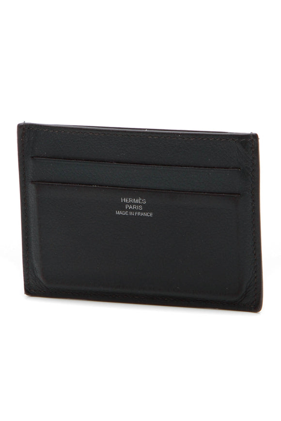 Hermes Citizen Twill Card Case - Black