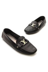 Louis Vuitton Monte Carlo Moccasin Loafers - Black Size 39