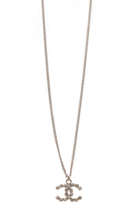 Chanel Crystal CC Necklace - Silver