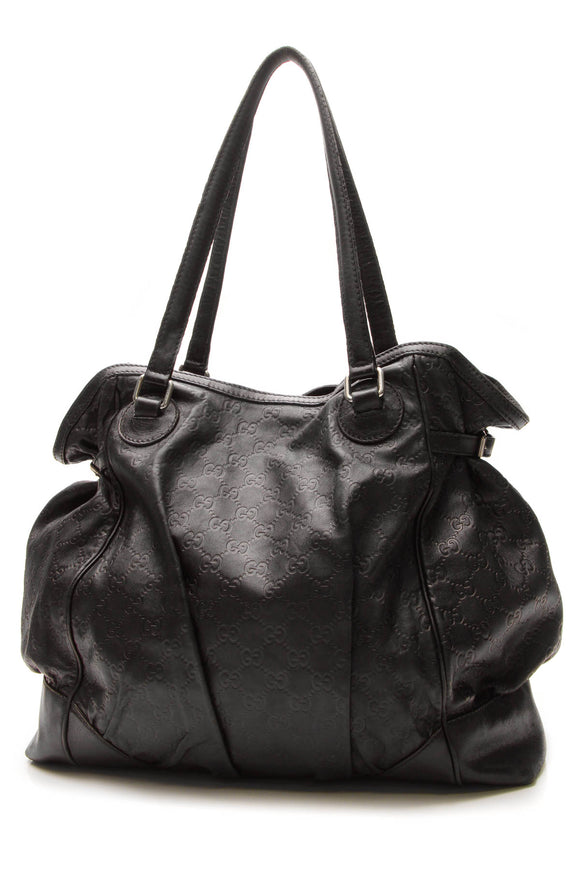 Gucci Full Moon Large Tote Bag - Black Guccissima