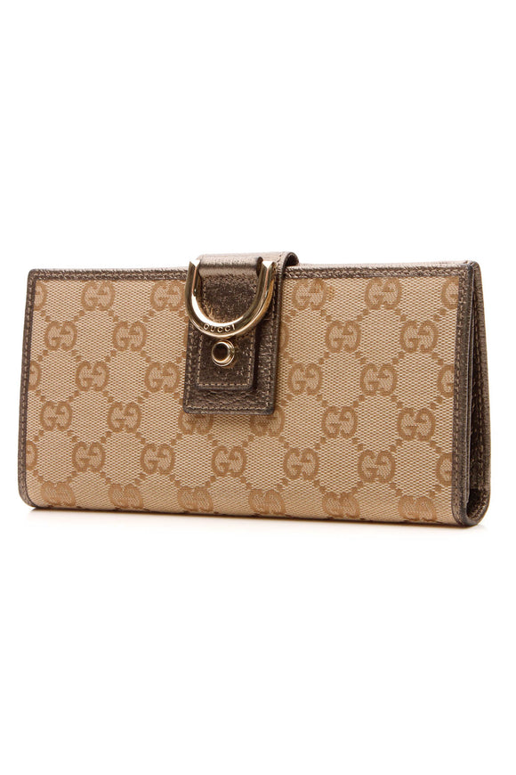 Gucci Abbey Long Wallet - Signature Canvas