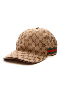 Gucci Web Baseball Cap - Signature Canvas Size Large