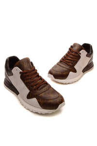 Louis Vuitton Run Away Men's Sneakers - Mixed Monogram US Size 10