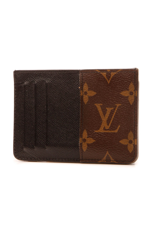 Louis Vuitton Card Holder Wallet- Monogram Macassar