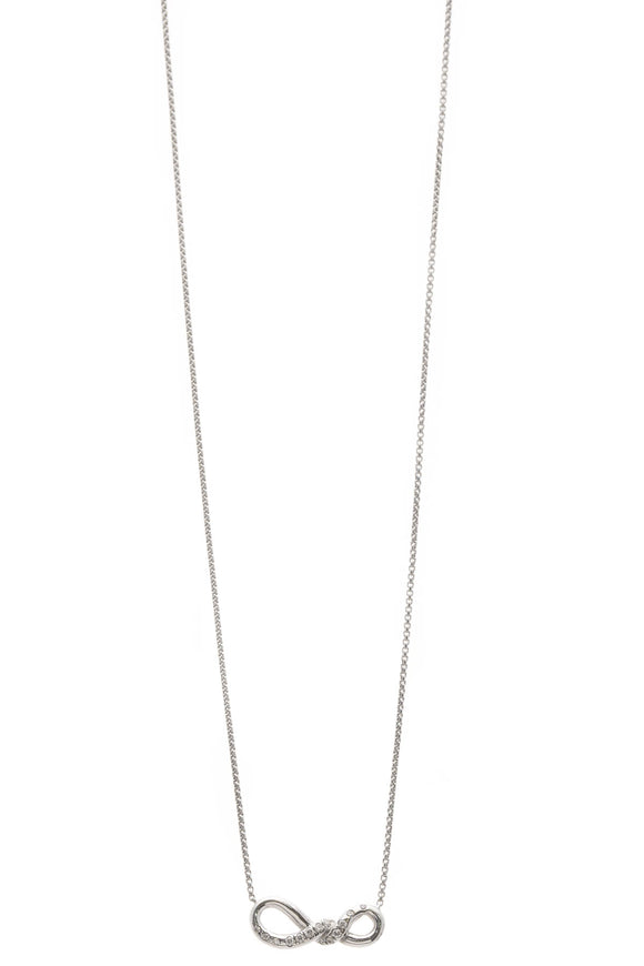 David Yurman Continuance Small Pendant Necklace - White Gold