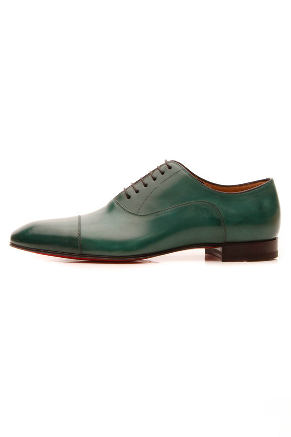 Christian Louboutin Greggo Oxford Men's Shoes - Green US Size 10