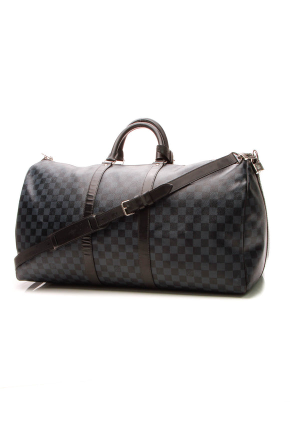 Louis Vuitton Keepall Bandouliere 55 Travel Bag - Damier Cobalt