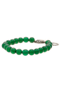 David Yurman Green Onyx Spiritual Beads Bracelet - Silver