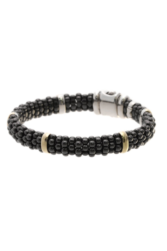 Lagos Caviar Beaded Rope Bracelet - Black