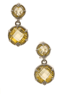 Judith Ripka Eclipse Crystal Drop Earrings - Silver