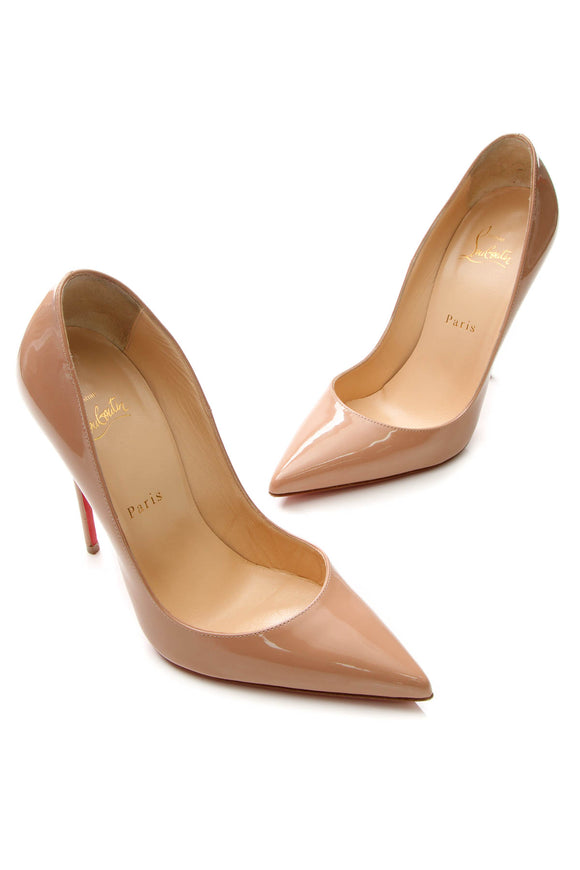 Christian Louboutin So Kate Pumps - Nude Patent Size 38.5