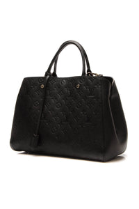 Louis Vuitton Empreinte Montaigne GM Bag - Black
