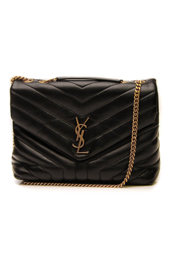 Saint Laurent LouLou Medium Shoulder Bag - Black