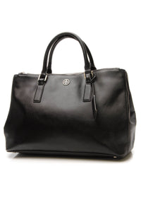 Tory Burch Robinson Double Zip Tote Bag - Black