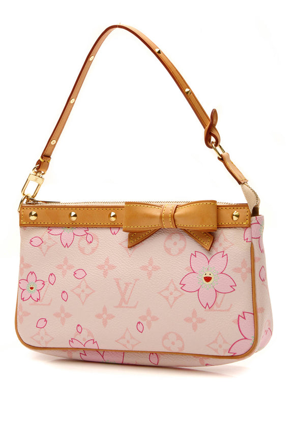 Louis Vuitton Cherry Blossom Pochette Bag - Pink Monogram