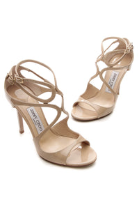 Jimmy Choo Lang Heeled Sandals - Nude Size 37