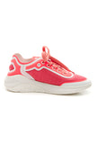 Chanel Low-Top Sneakers - White/Coral Size 35.5