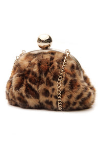 Kate Spade Leopard Small Evening Bag - Brown