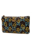 Gucci GucciGhost Print Marmont Clutch Bag - Black