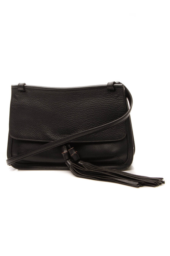 Gucci Bamboo Daily Flap Bag - Black