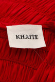 Khalite Ruched Midi Dress - Red Size Large