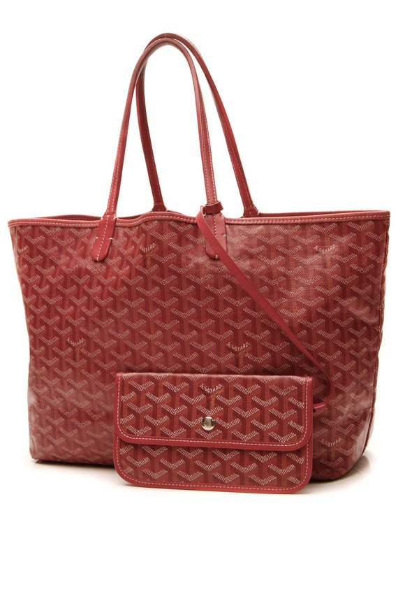 Goyard St. Louis PM Tote Bag - Red Goyardine
