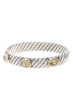 David Yurman Citrine Renaissance Bangle Bracelet Silver Gold
