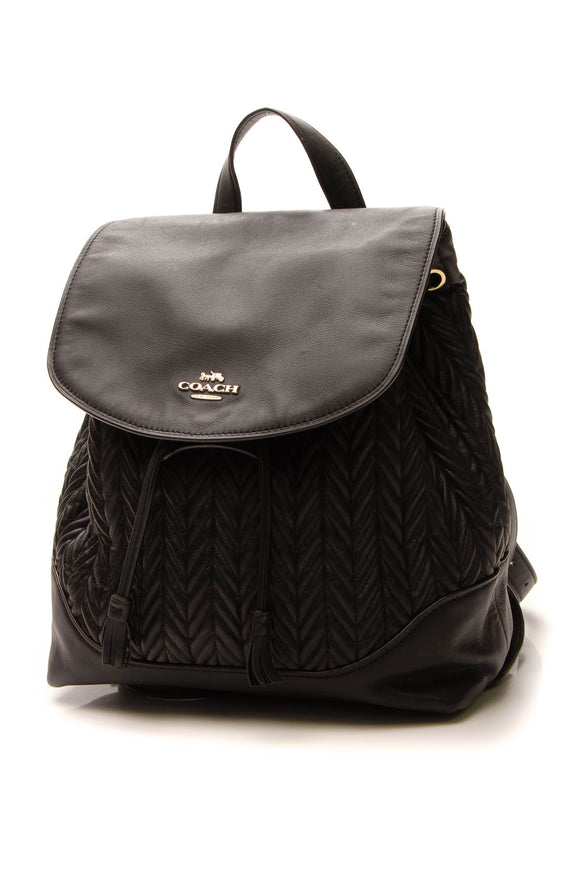 Coach Elle Quilted Backpack - Black