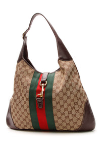 Gucci Jackie O Bouvier Large Hobo Bag - Signature Canvas