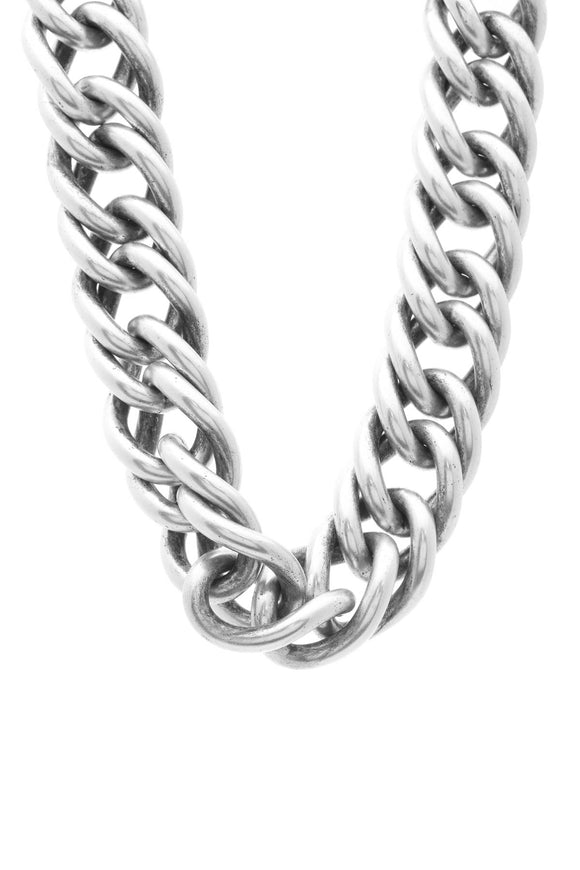 Saint Laurent XL Chain Link Choker Necklace - Silver