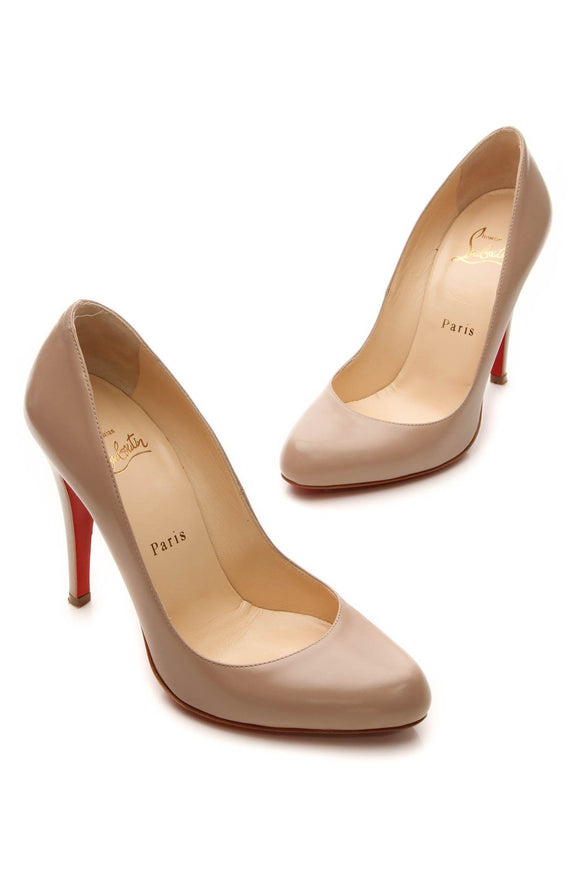 Christian Louboutin Decollete 868 100 Pumps - Nude Size 37
