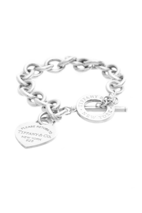 Tiffany & Co. RTT Return to Tiffany Heart Tag Toggle Bracelet - Silver