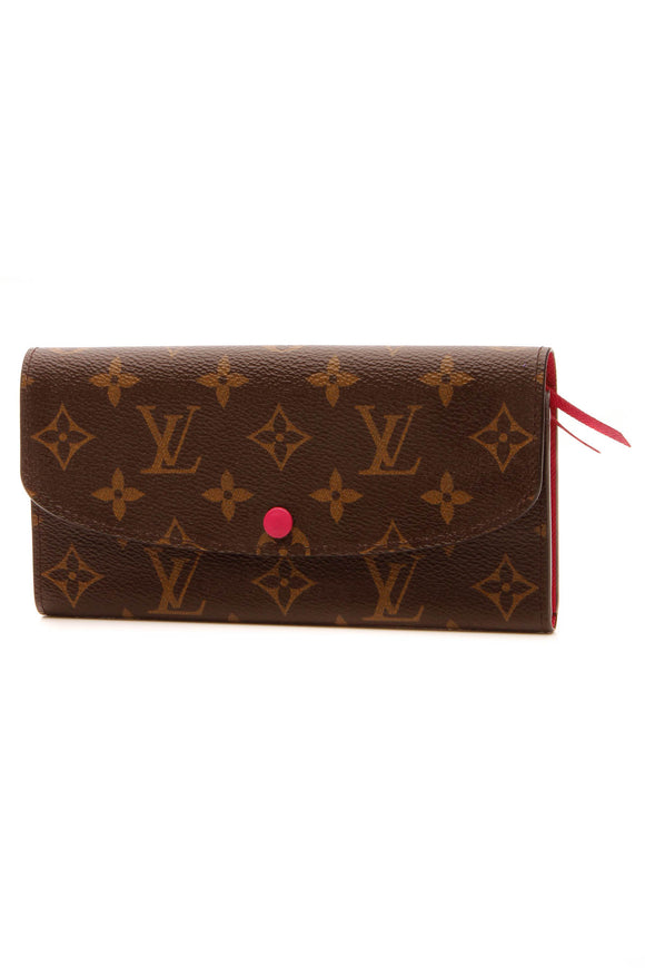 Louis Vuitton Emilie Wallet - Monogram/ Fuchsia