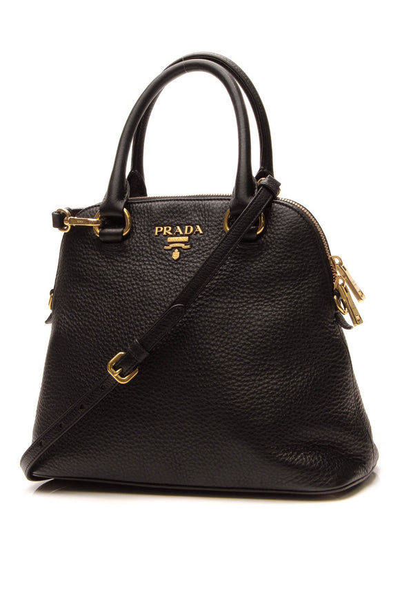 Prada North/South Small Dome Bag - Black