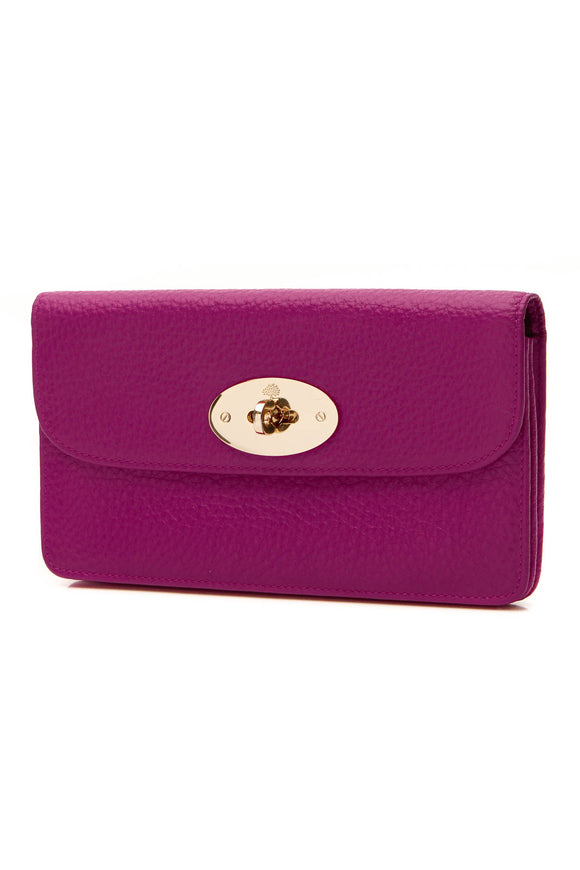 Mulberry Long Locked Wallet - Hot Fuchsia