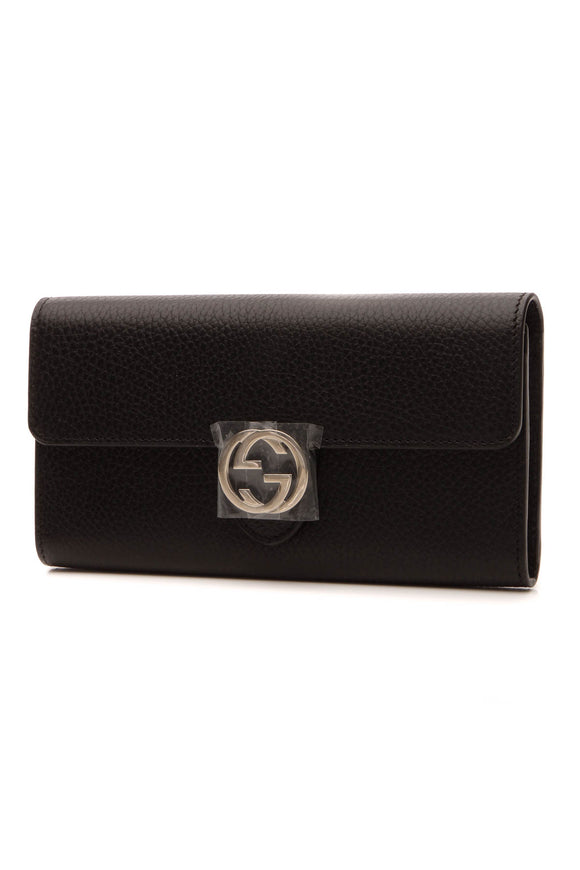 Gucci Interlocking G Wallet - Black