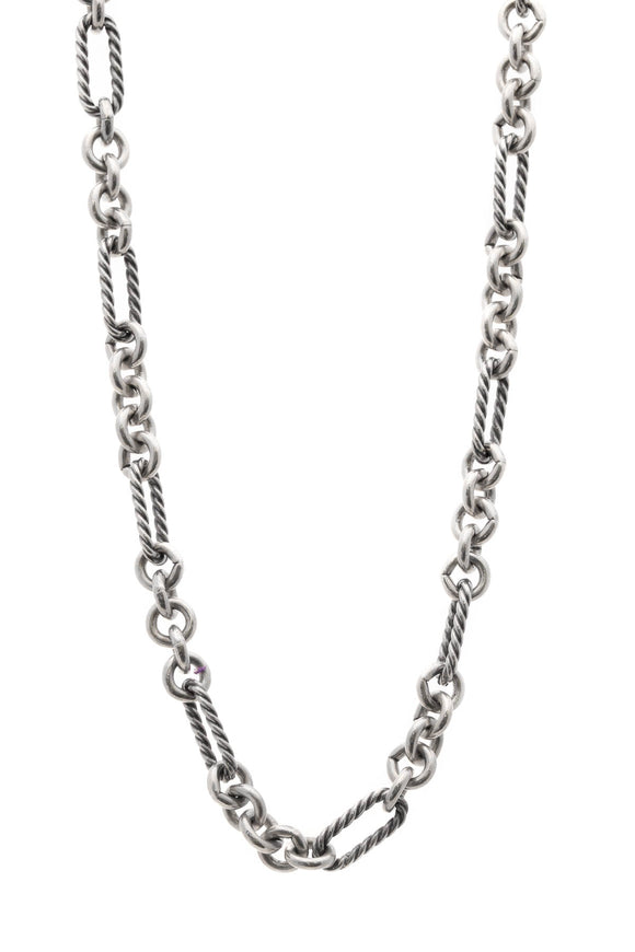 David Yurman Figaro Chain Necklace - Silver/Gold