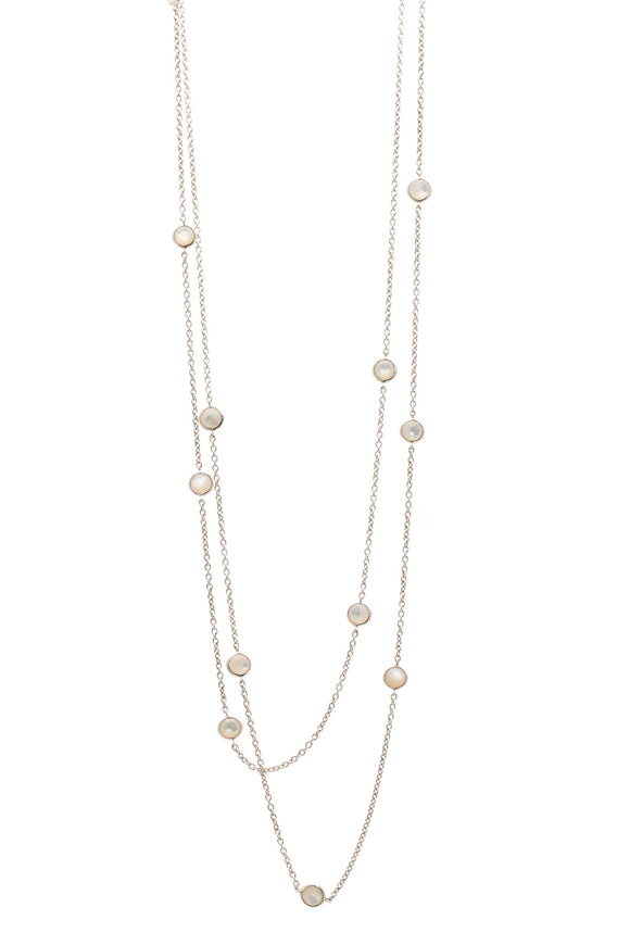 Ippolita Mother of Pearl Rock Candy Station Necklace - Silver