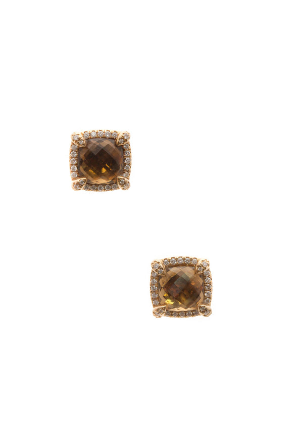 David Yurman 8mm Chatelaine Earrings - Gold
