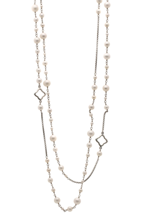 David Yurman Pearl Bijoux Chain Necklace - Silver